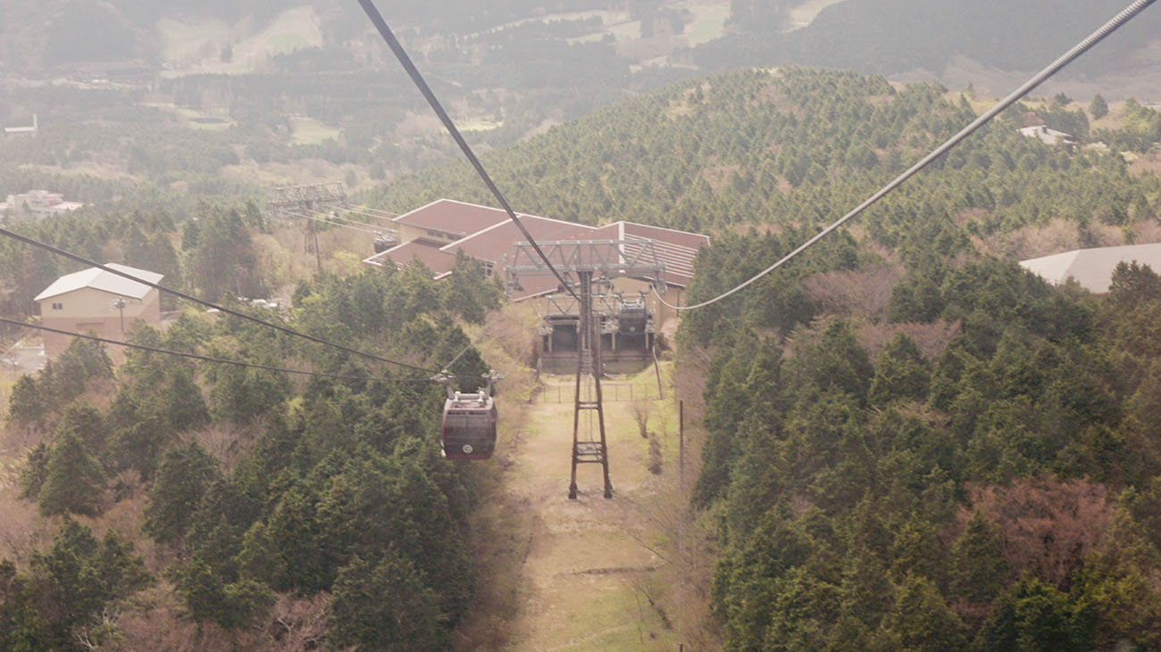 View from the ropeway to Togendai